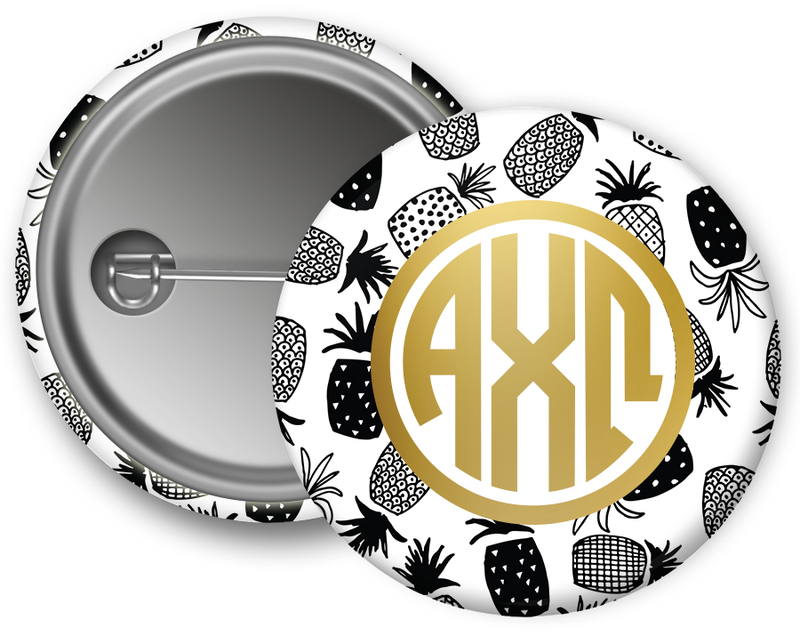 Alpha Chi Omega Faux Foil Button
