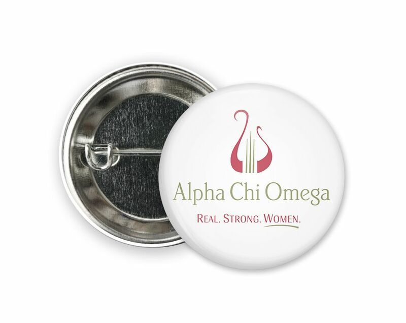 Alpha Chi Omega Logo Button