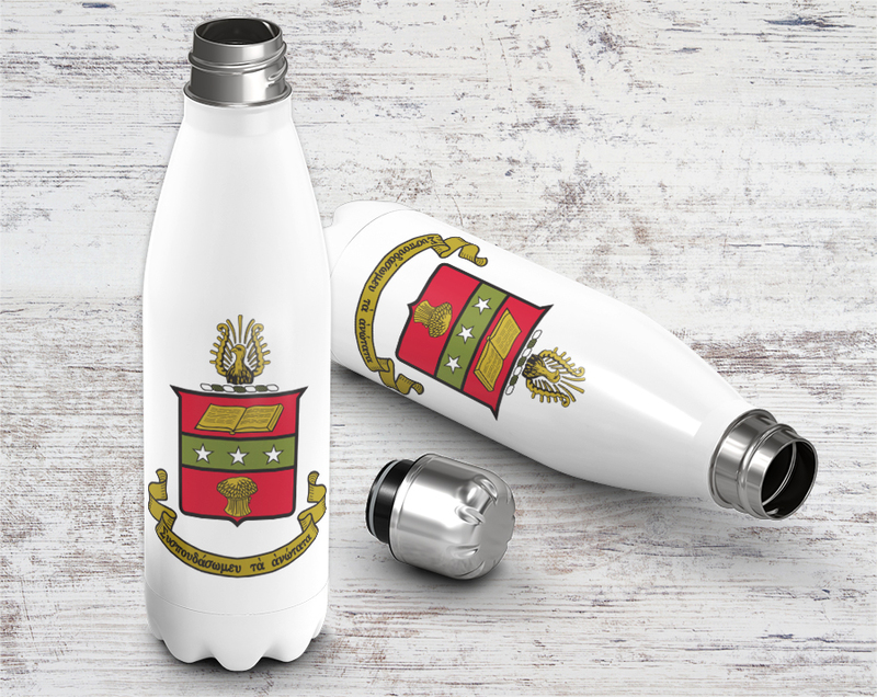 Alpha Chi Omega Crest - Shield Stainless Steel Water Bottle