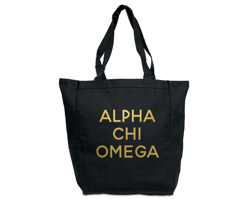 Alpha Chi Omega Gold Foil Tote bag