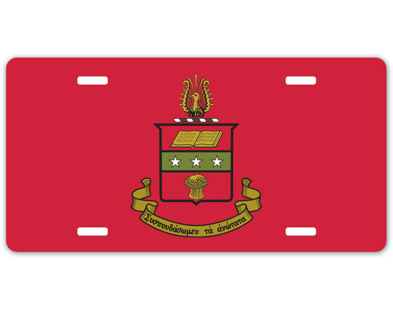 Alpha Chi Omega Crest - Shield License Plate