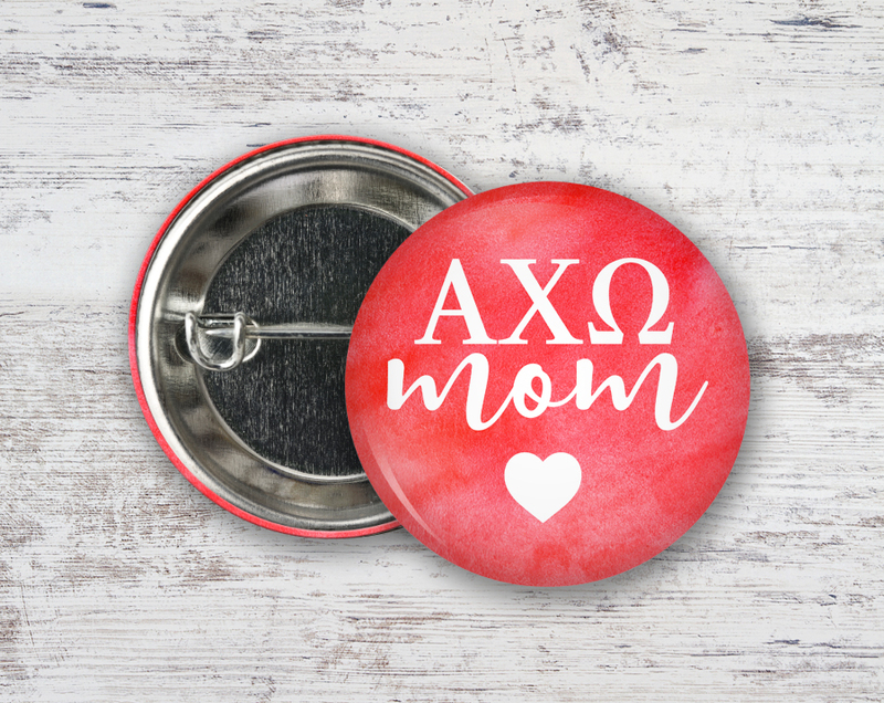 Alpha Chi Omega Mom Button