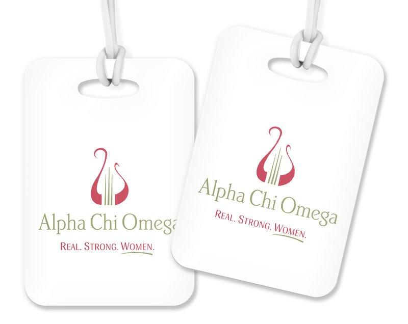 Alpha Chi Omega Logo Luggage Tag