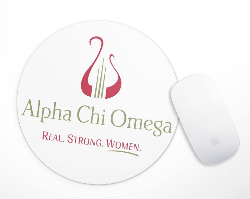 Alpha Chi Omega Logo Round Mousepad