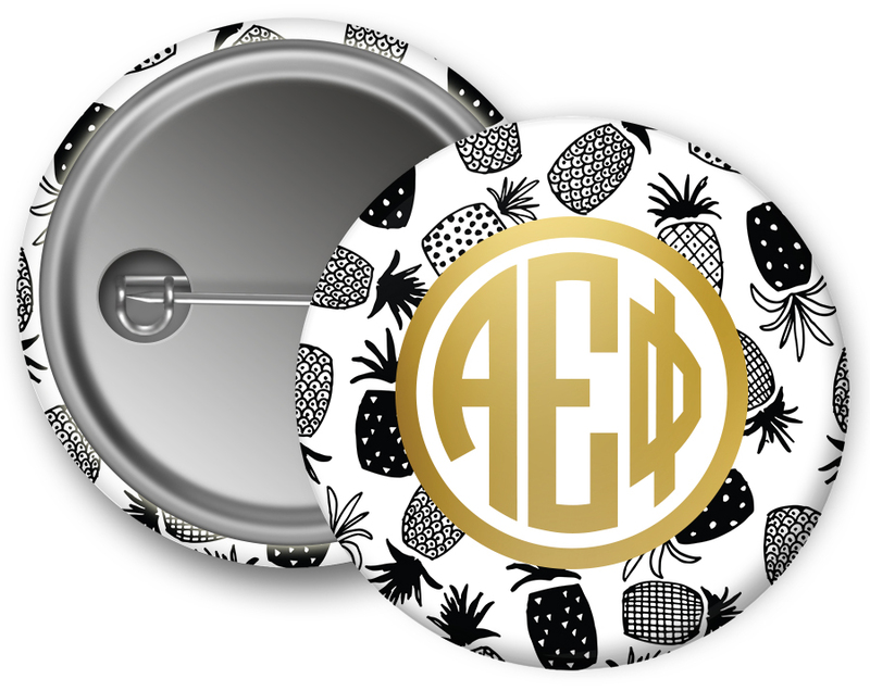 Alpha Epsilon Phi Faux Foil Button