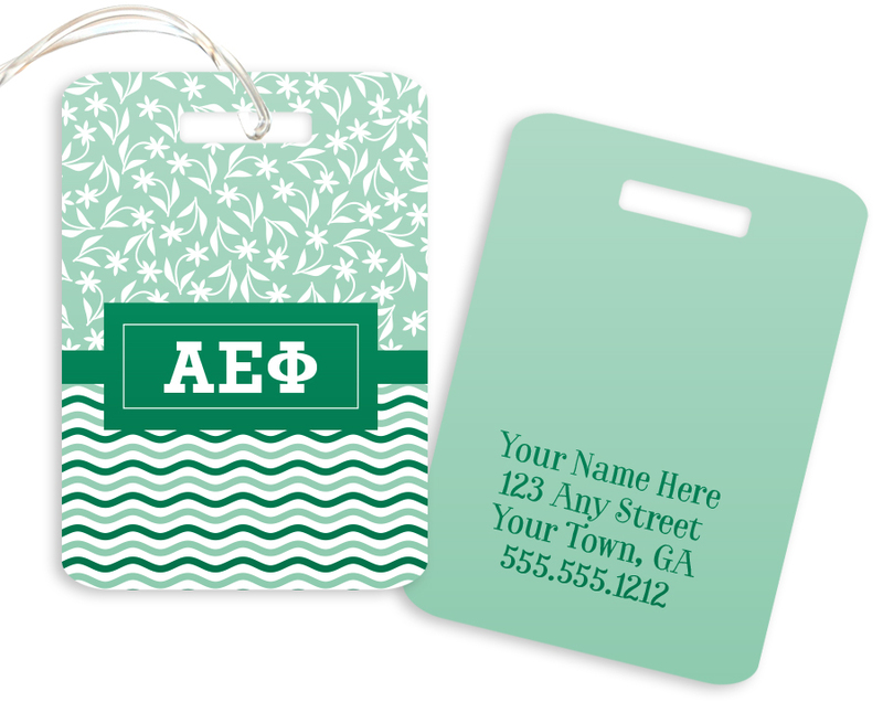 Alpha Epsilon Phi Geometric Luggage Tag