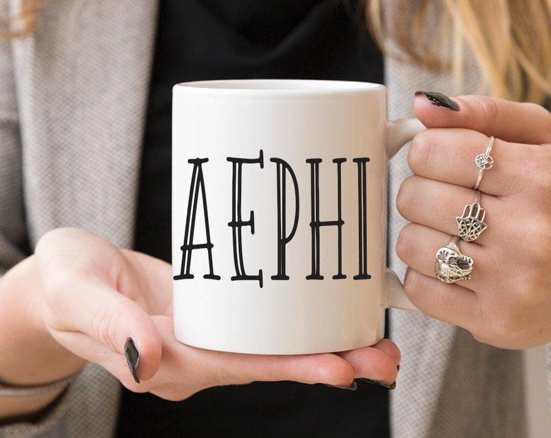 Alpha Epsilon Phi Inline Coffee Mug