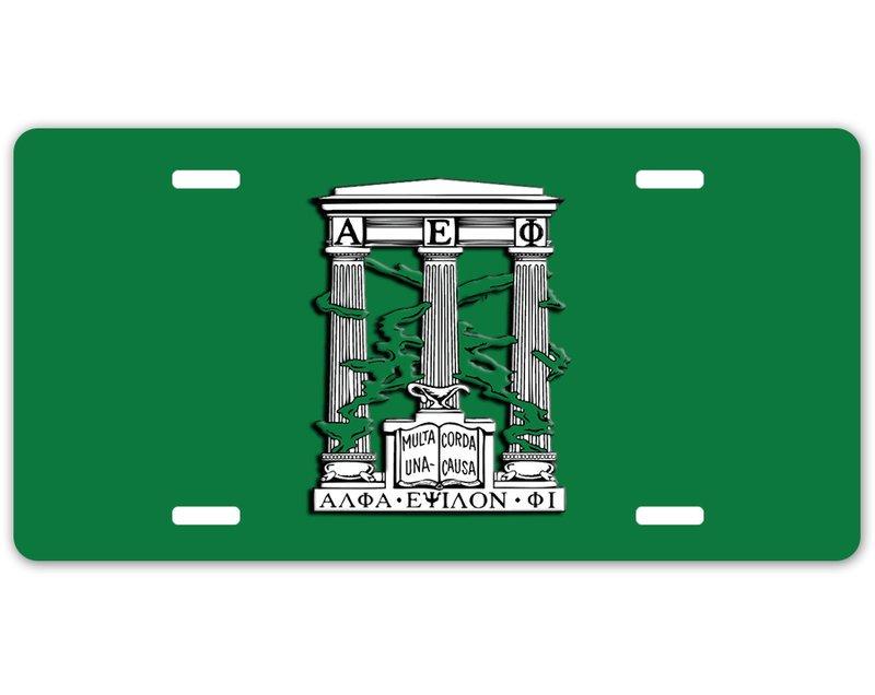 Alpha Epsilon Phi Crest - Shield License Plate
