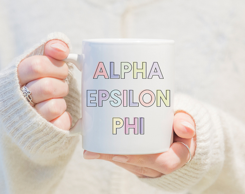 Alpha Epsilon Phi Pastel Mug