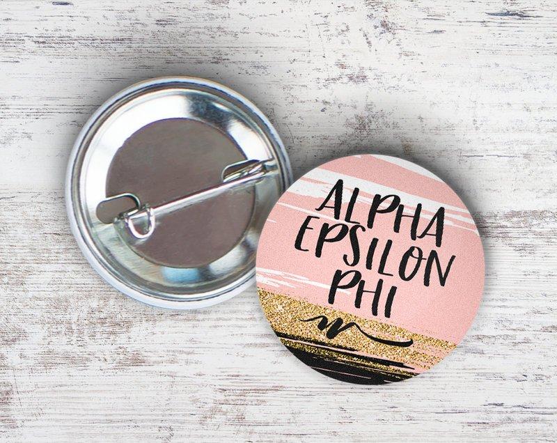 Alpha Epsilon Phi Rose Gold Button