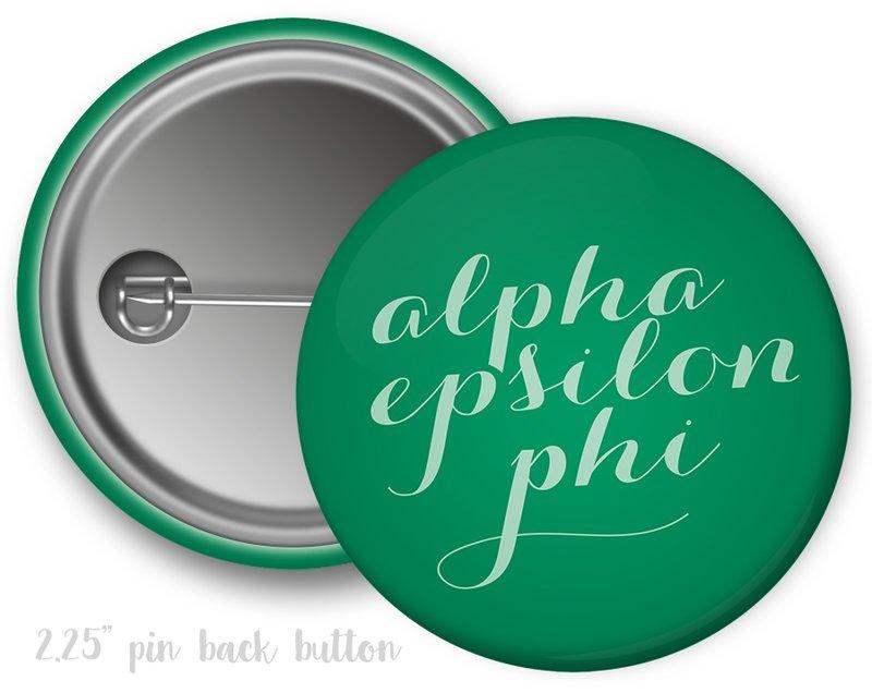 Alpha Epsilon Phi Script Button