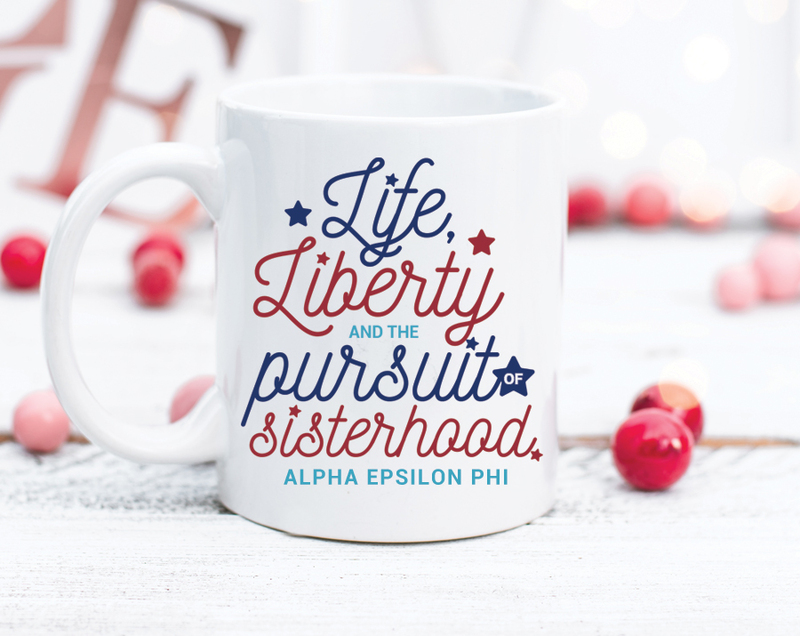 Alpha Epsilon Phi Sisterhood Mug