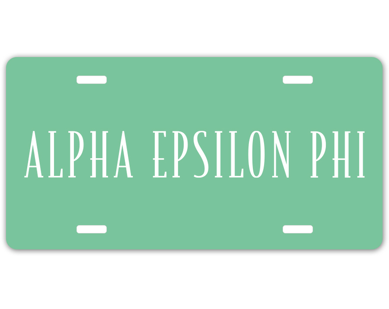 Alpha Epsilon Phi Sorority Logo License Cover