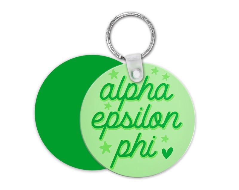 Alpha Epsilon Phi Star Key Chain