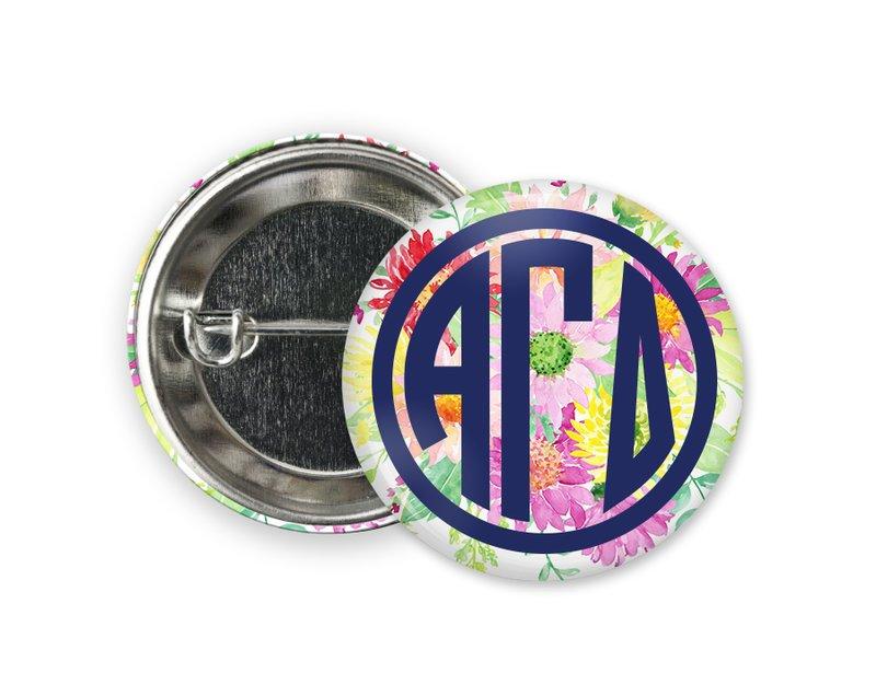 Alpha Gamma Delta Bouquet Button