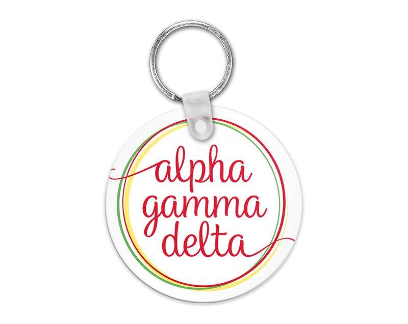 Alpha Gamma Delta Logo Keychain