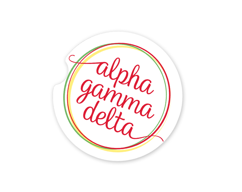 Alpha Gamma Delta Logo Sandstone Car Cup Holder Coaster