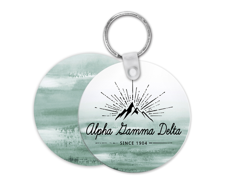 Alpha Gamma Delta Mountain Key Chain
