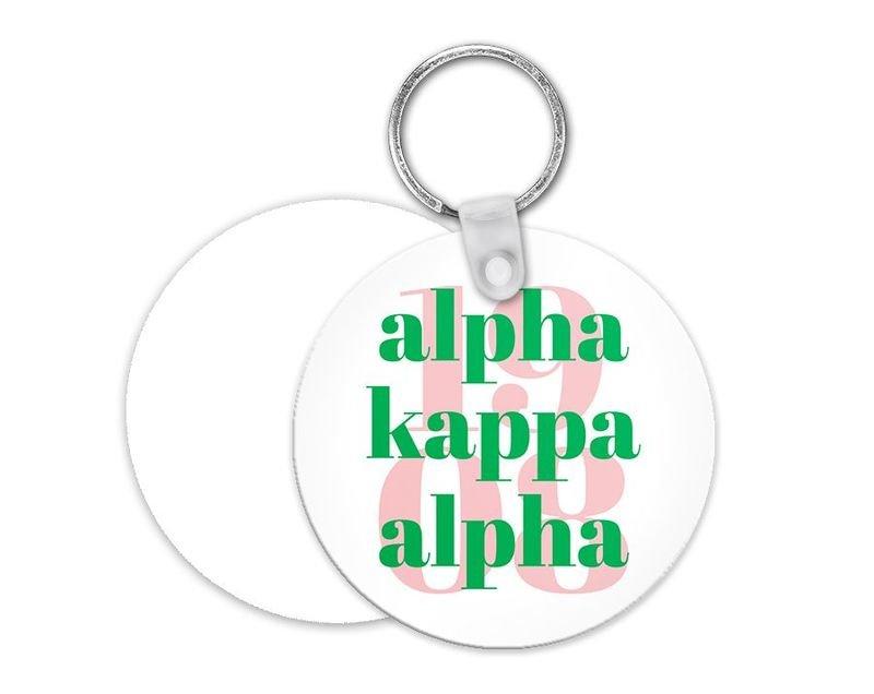 Alpha Kappa Alpha 1908 Keychain