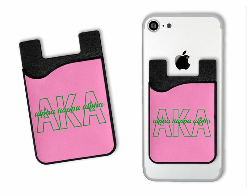 Alpha Kappa Alpha Sorority Letters Script Caddy Phone Wallet
