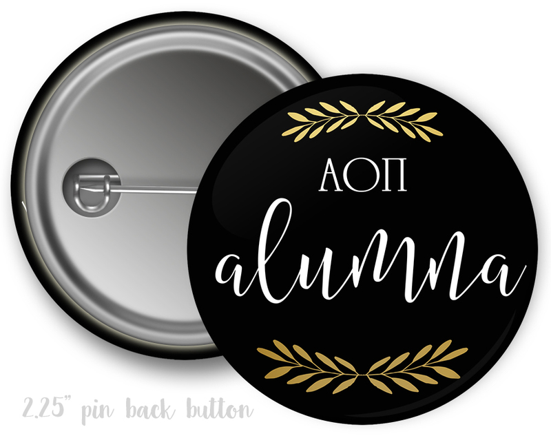 Alpha Omicron Pi Alumna Button