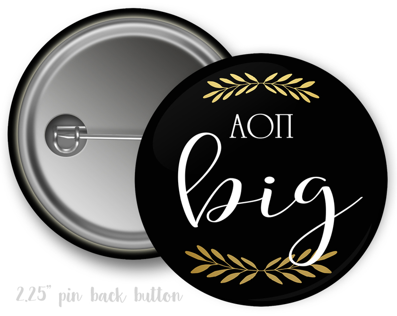 Alpha Omicron Pi Big Button