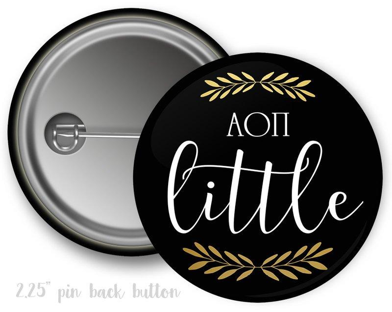Alpha Omicron Pi Little Button