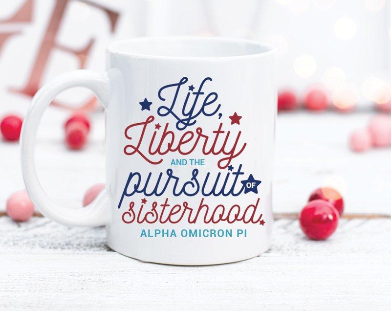 Alpha Omicron Pi Sisterhood Mug