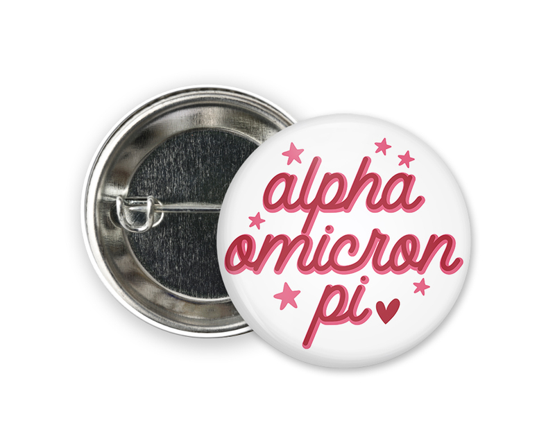 Alpha Omicron Pi Star Button