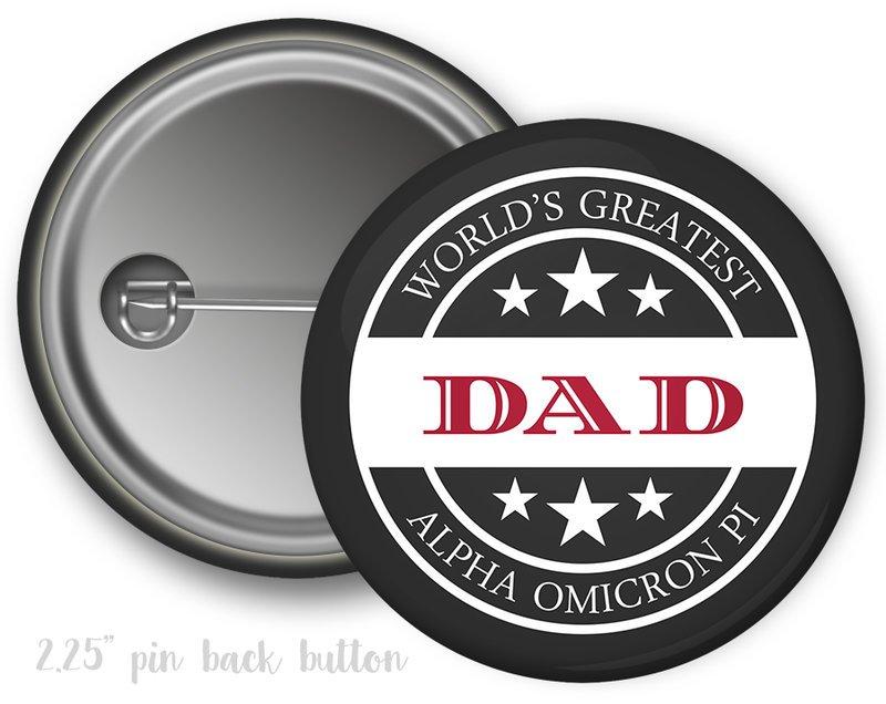 Alpha Omicron Pi World's Greatest Dad Button