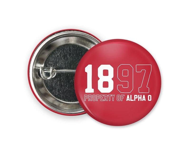 Alpha Omicron Pi Year Button