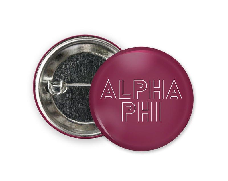 Alpha Phi Modera Button
