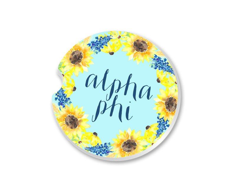 Alpha Phi Sunflower Car Coaster