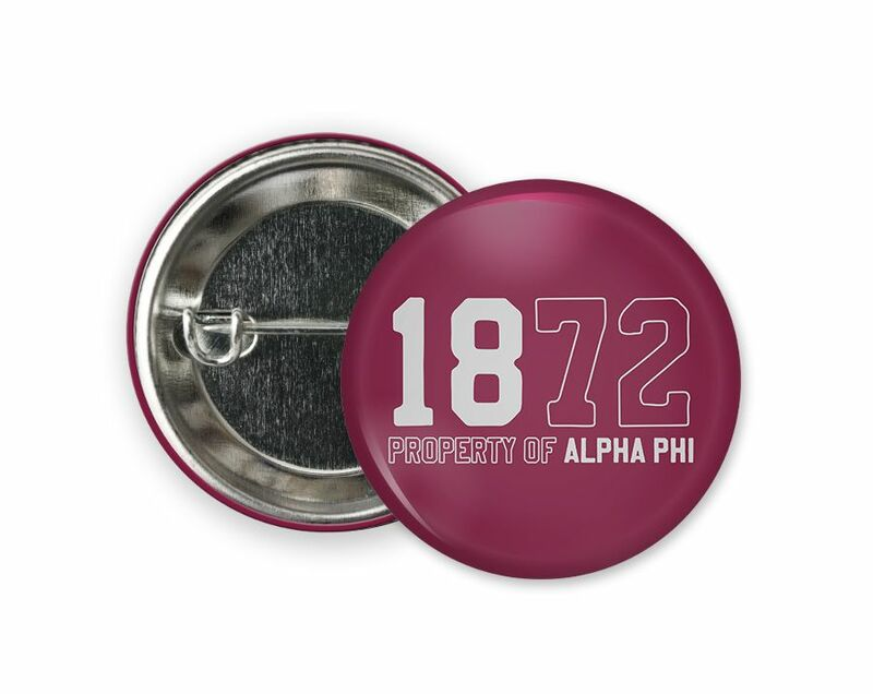 Alpha Phi Year Button
