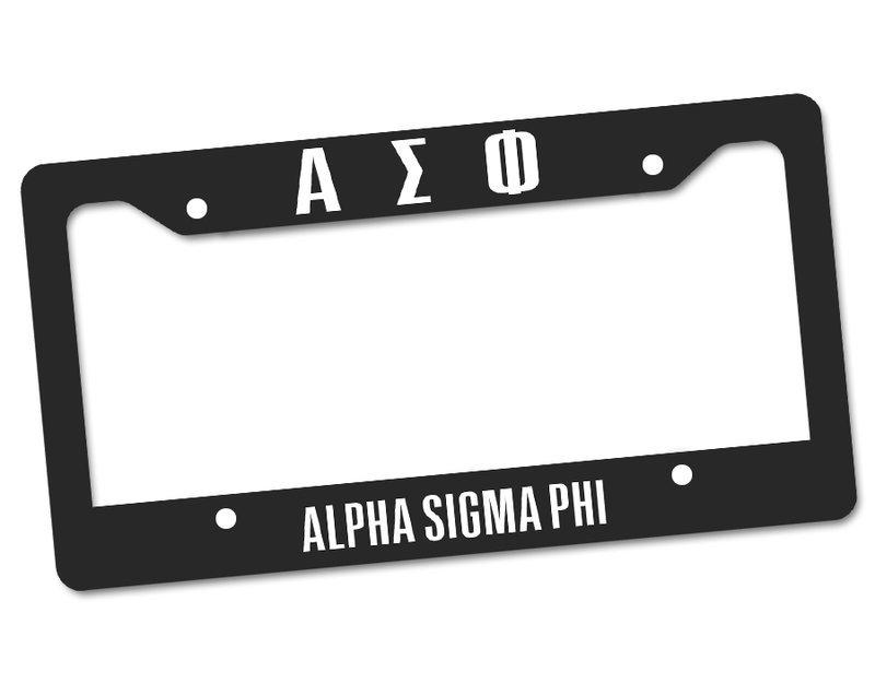 Alpha Sigma Phi Custom License Plate Frame