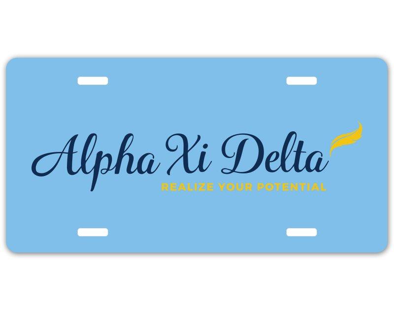 Alpha Xi Delta Sorority Logo License Cover
