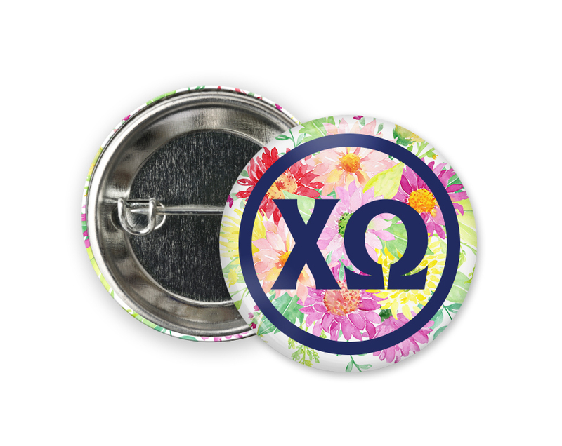 Chi Omega Bouquet Button