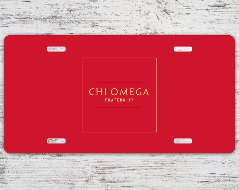 Chi Omega Sorority Logo License Cover