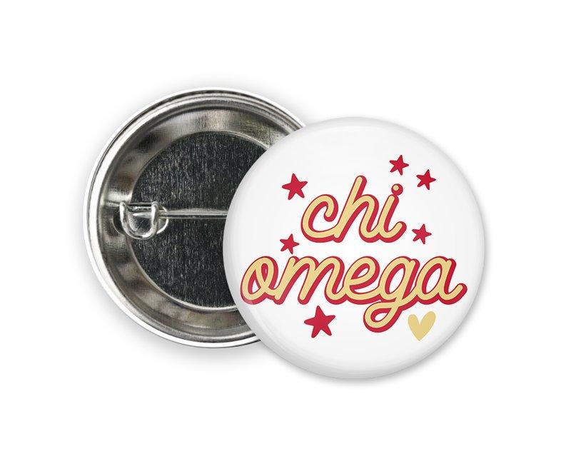 Chi Omega Star Button