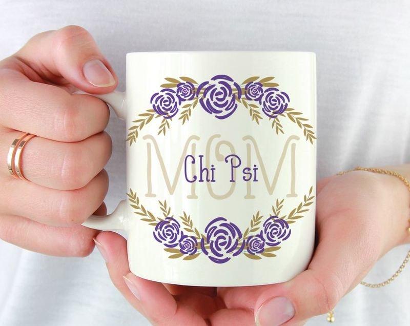 Chi Psi Mom Floral Mug