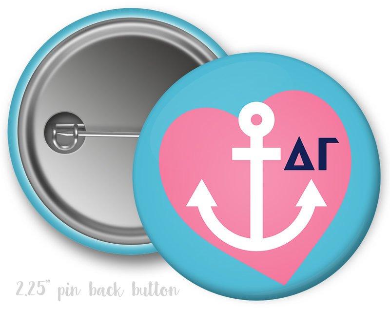 Delta Gamma Heart Mascot Button
