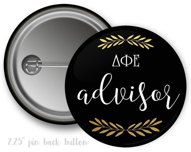 Delta Phi Epsilon Advisor Button