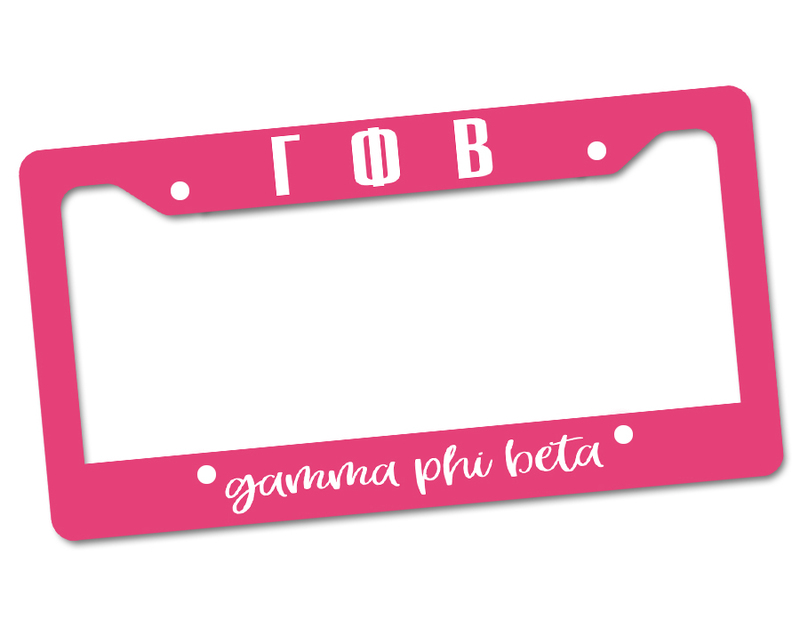 Gamma Phi Beta License Plate Frame