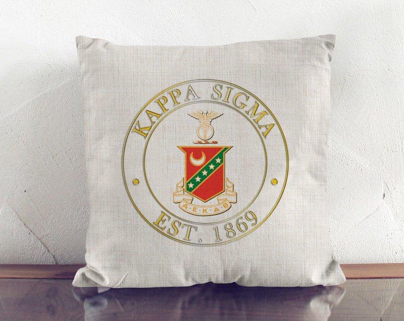 Kappa Sigma Crest Linen Pillow
