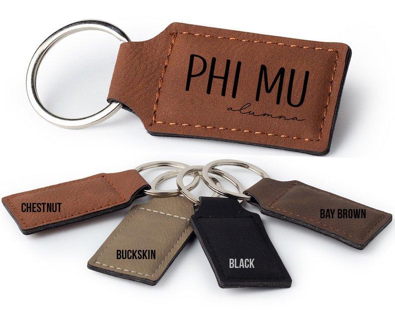 Phi Mu Alumna Key Chain