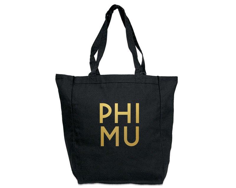 Phi Mu Gold Foil Tote bag