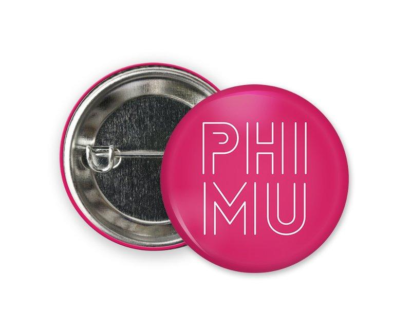 Phi Mu Modera Button