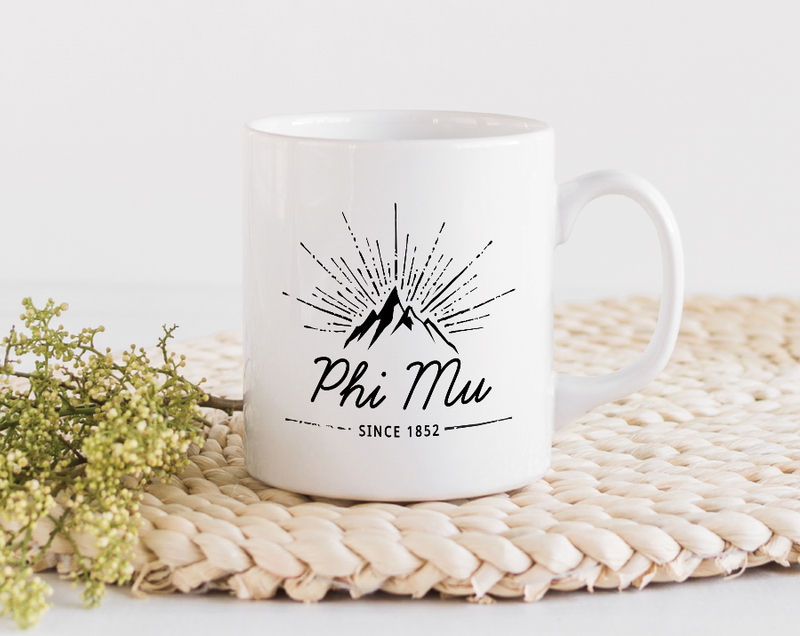 Phi Mu Mountain Mug