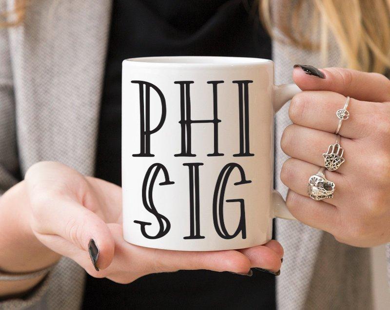 Phi Sigma Sigma Inline Coffee Mug