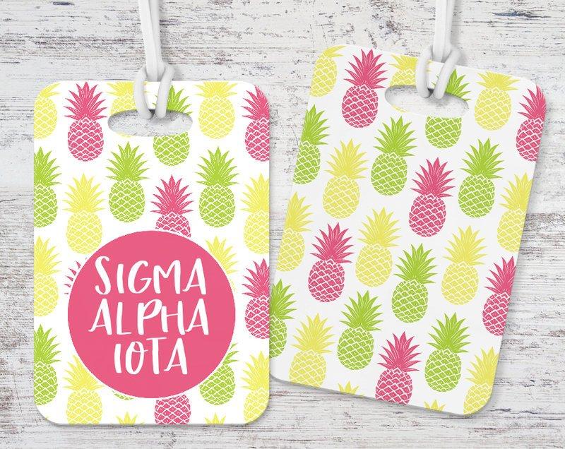 Sigma Alpha Iota Pineapple Luggage Tag